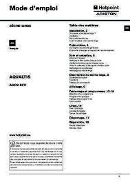 notice seche linge hotpoint ariston ariston linge notice seche notices et pdf gratuits
