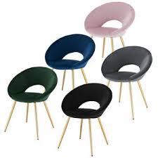 details zu esszimmerstuhl wohnzimmerstuhl samt mit metallgestell polsterstuhl küchen stuhl