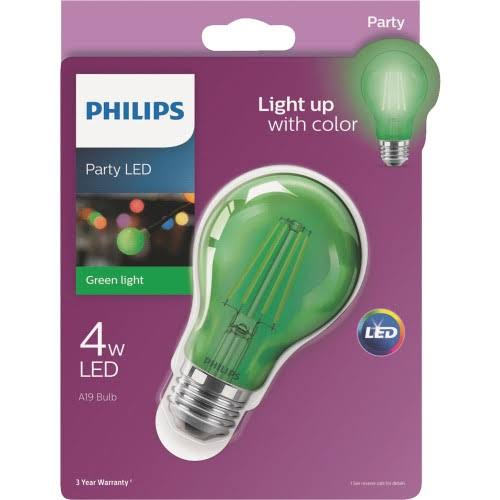 Philips A19 Medium Indoor/Outdoor LED Decorative Party Light Bulb 538249