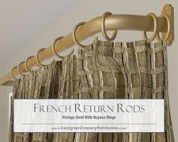 Decorative Traverse Curtain Rods With Pull Cord by Large Span French Return Rods May Require Support Brackets But