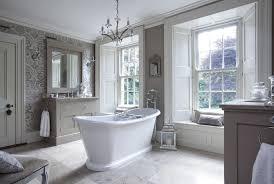 Chandelier Over Bathroom Vanity by Stunning Bathroom Features A 4 Light Chandelier Over A
