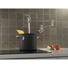Delta Stainless Traditional Wall Mounted Pot Filler Faucet 1177LF