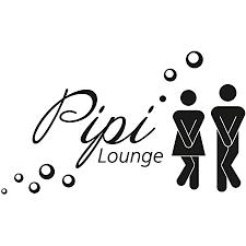 wc tür aufkleber pipi lounge i hin 226 i in schwarz i motiv frau und mann mit spruch i für badezimmer tür toilette i folie selbstklebend