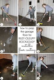 Rocksolid Garage Floor Coating Kit by Diy With Style How To Apply Rocksolid Metallic Garage Floor