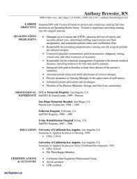 Entry Level Registered Nurse Resume Sample Pdf Staff Best
