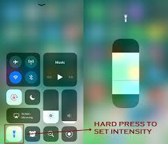 How to use Flashlight on iPhone IOS 11