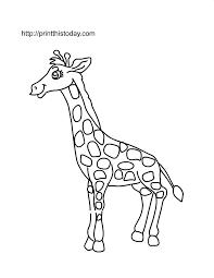 A Cute Giraffe To Color