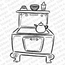 Stove Drawing Colouring Pages