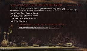 Halloween Horror Nights Florida Resident Coke Code by Universal Orlando Brochures U0026 Miscellaneous Items