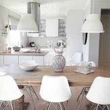 cuisine blanche et cuisine blanc et bois dco photo modele cuisine blanche modele