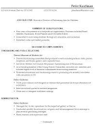 Resume Functional Summary