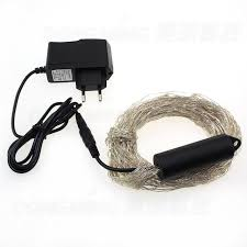 Silver Wire 360LEDs Decorative String Light 12V DC For Christmas With Power Adapter Led