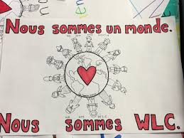 WLC French Club On Twitter Making Out Bilingual Posters To Support All Students At Wlc PrincipalMorgan Nous Sommes Un Monde