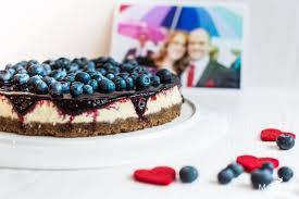 isländischer skyr cheesecake mit blaubeertopping