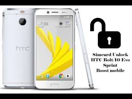 Unlock Simcard HTC Bolt 10 Evo 2PYB2 Sprint Boost Mobile Success