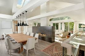 Electric Fireplace Dining Room Contemporary With Gas Fireplaces Tables Living Space