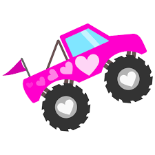 Pink Monster Truck For Girls SVG File For Cricut And Silhouette ...