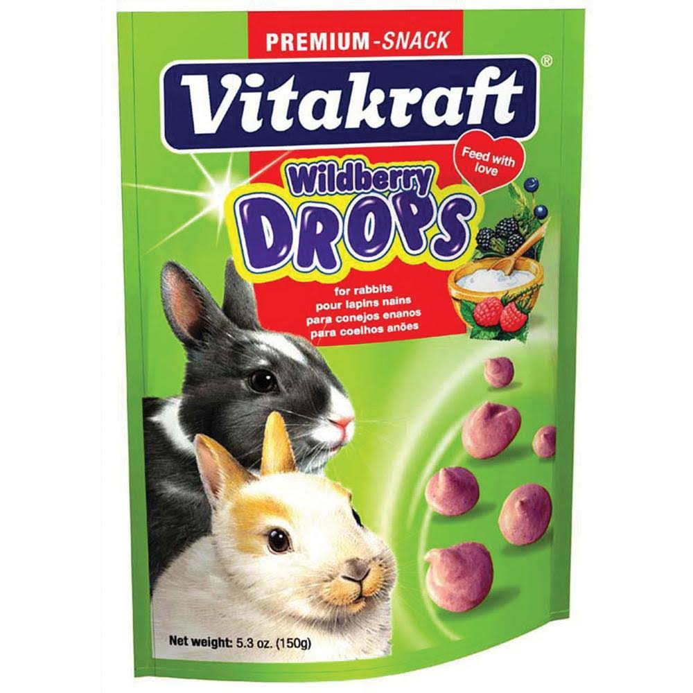 Vitakraft Rabbit Drops - 5.3oz, Wild Berry