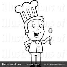 Royalty Free RF Chef Clipart Illustration by Cory Thoman