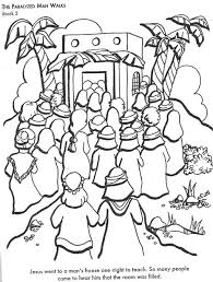 Crowds Come To See Jesus Mark 2