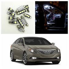 9pcs white car led light bulbs interior package kit for 2011 2012