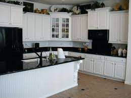 White Cabinets Black Appliances Kitchen Design With Stainless