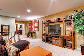 Oakwood Theater for Eclectic Living Room Also Berber Rug Exposed