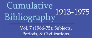 IsisCB Cumultaive Bibliography Volume 7