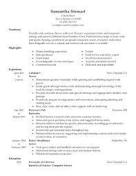 Sample Waitress Resume Waiter Fresh Custom Research Organization Laboratories Of Inspirational