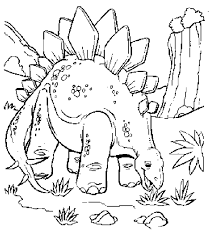 Dinosaur Coloring Pages Free Printable 4 Within And