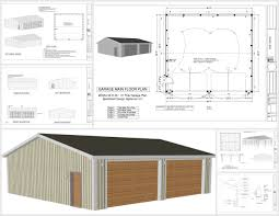 8 X 10 Gambrel Shed Plans by G554 36 X 40 X 10 Pole Barn Sds Plans