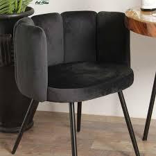 esszimmer stuhl rückenlehne sada samt velvet schwarz
