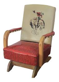 100 Cowboy In Rocking Chair 1950s Vintage Childs Vinyl Ish