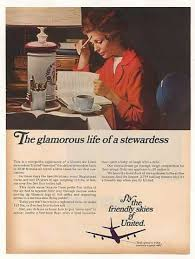 Vintage United Airlines Ad The Glamours Life Of A Stewardess