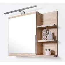 domtech badezimmer spiegelschrank mit ablagen und led