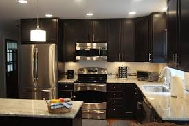 Dazzling Kashmir White Granite Method Raleigh Modern Kitchen Remodeling Ideas With Dark Chocolate Cabinets Full Overlay Cabinet Doors Countertops