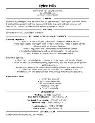 Supervisor Resume Samples Housekeeping Example Lodge Pattern Hotel