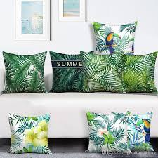 Papasan Chair Cushions Uk by Tropical Rainforest Cushion Cover Jungle Plumeria Almofada Toucan