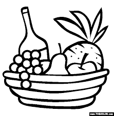 Gift Basket Coloring Page