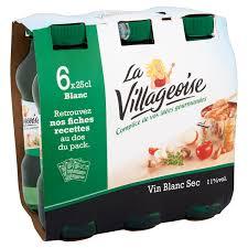 vin cuisine vin blanc vin de table le pack de 6 bouteilles de 25cl vos