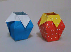 This Paper Vase Is Both Pretty And Useful The Folding Sequence Looks Complicated But It Actually Quite Easy To Make Many Of Steps Are