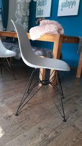 4 esszimmerstühle stühle grau