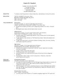 Sample Elementary Teacher Resume Secondary