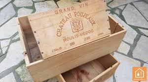 caisse a vin en bois ou trouver des caisses en bois bricolage facile