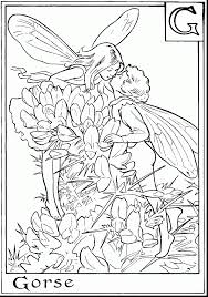Awesome Flower Fairy Coloring Pages Printable With Free Adults And
