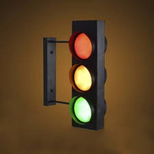 unique traffic light design 6 light industrial style led wall