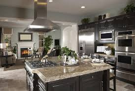 Elegant Color Combinations Paint This Kitchen With A Timeless Appeal From Light Granite Countertops To