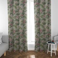 dekostoff orchideen palmenblätter grün rosa weiß 1 40m breite