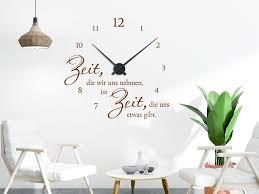 wandtattoo uhr kaffee spezialitäten wohnzimmer esszimmer