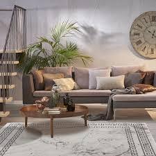 teppich wohnzimmer grau kurzflor marmor steinoptik bordüre muster